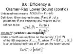 8 6 efficiency cramer rao lower bound cont d