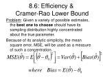 8 6 efficiency cramer rao lower bound