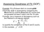 assessing goodness of fit gof