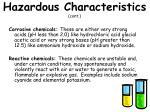 hazardous characteristics cont1