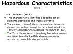 hazardous characteristics cont2