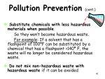 pollution prevention cont