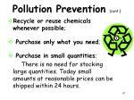 pollution prevention cont1
