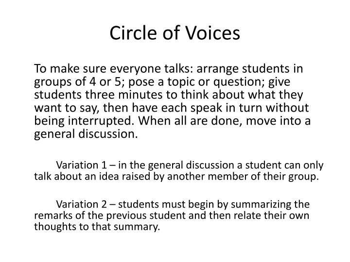 Circle of Voices
