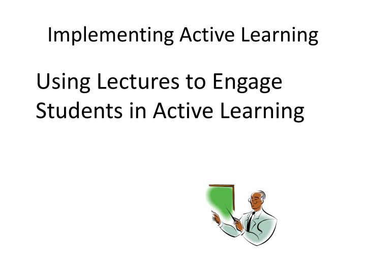 Implementing Active Learning