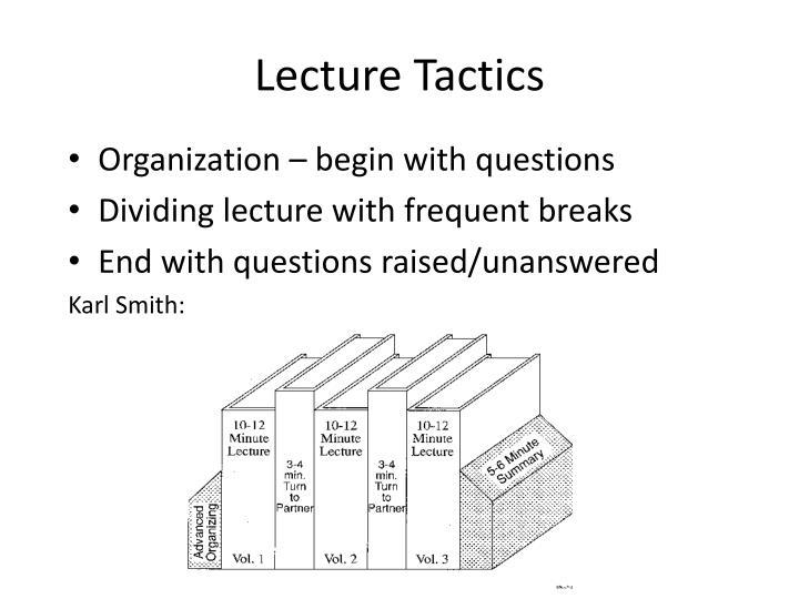 Lecture Tactics