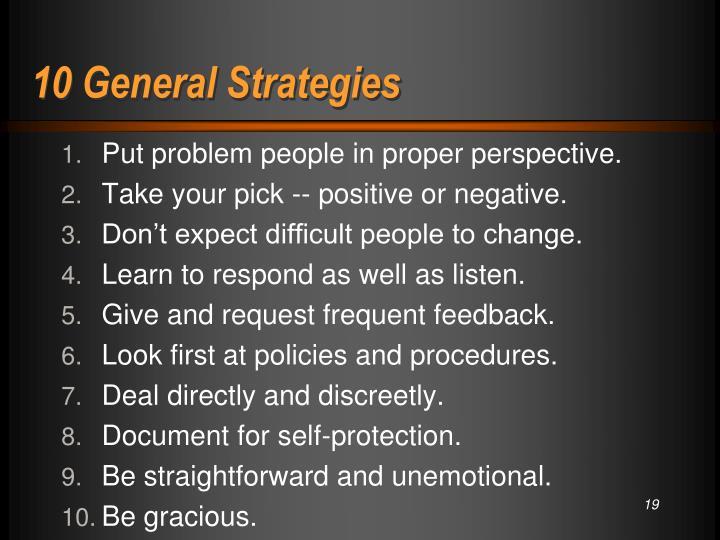 10 General Strategies