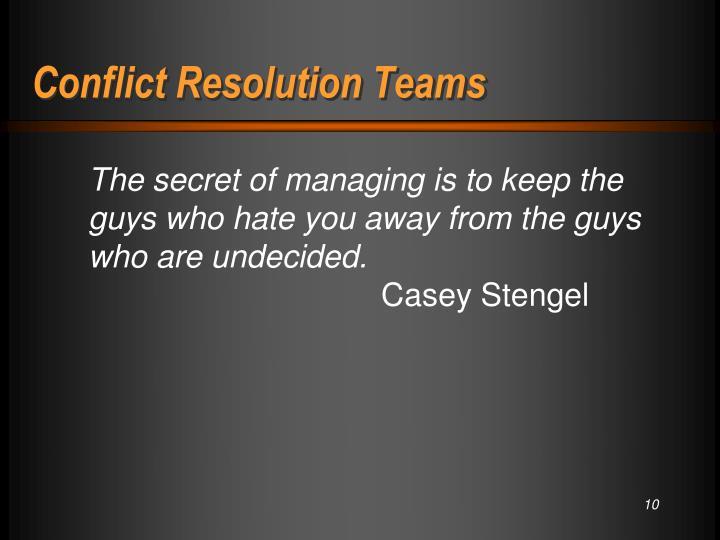 Conflict Resolution Teams