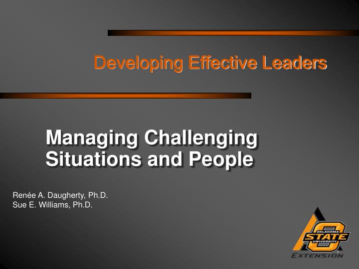 developing effective leaders n.