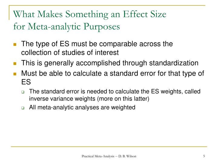What Makes Something an Effect Size
