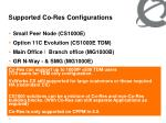 supported co res configurations