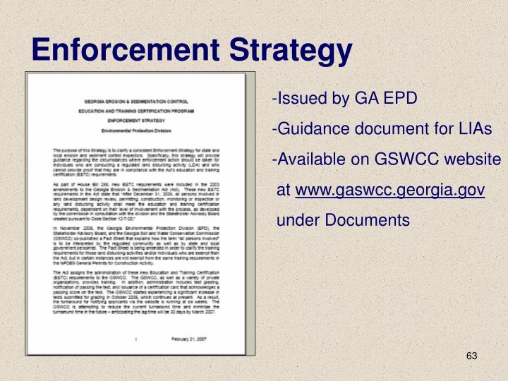Enforcement Strategy