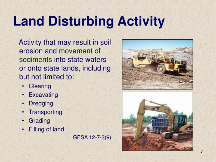 Land Disturbing Activity