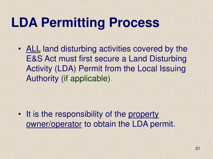 LDA Permitting Process