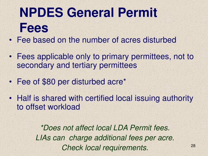 NPDES General Permit Fees
