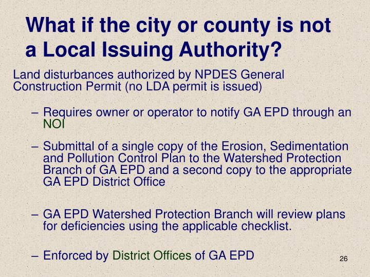 What if the city or county is not a Local Issuing Authority?