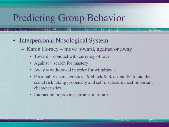 Predicting Group Behavior