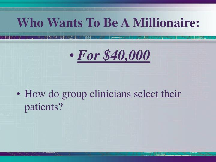 Who Wants To Be A Millionaire: