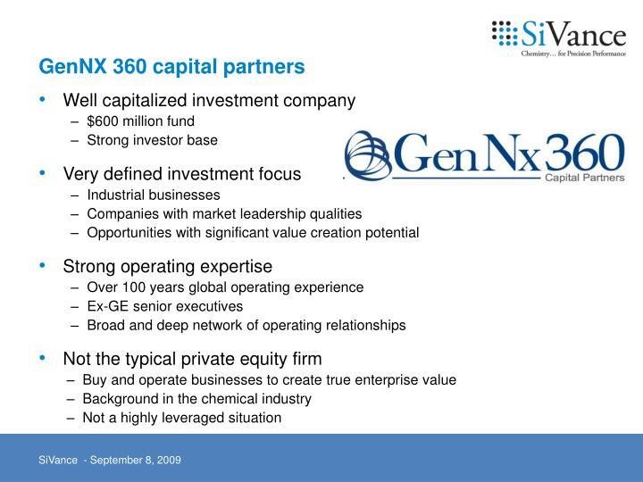 GenNX 360 capital partners