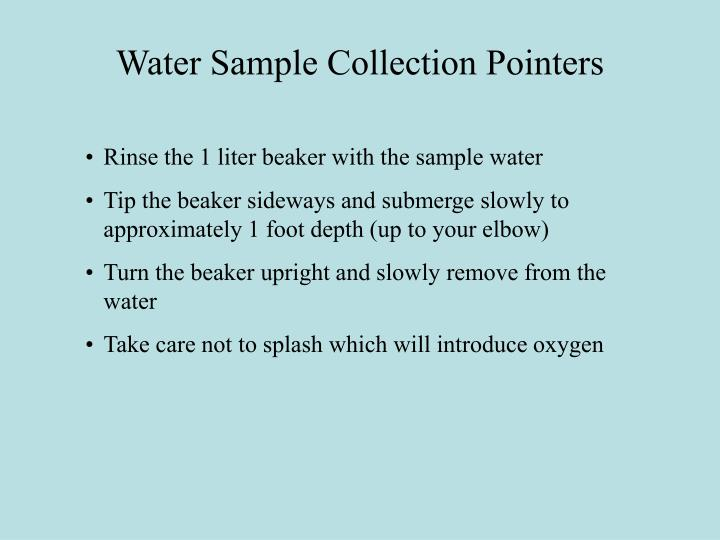 Water Sample Collection Pointers