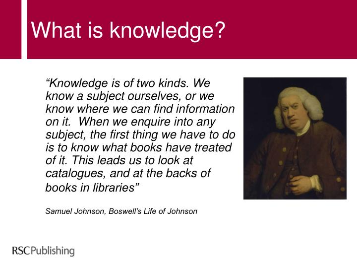 What is knowledge