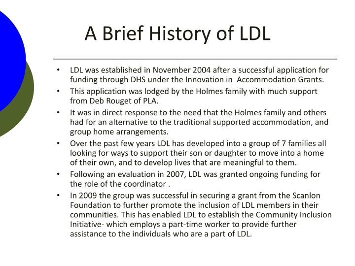 A Brief History of LDL