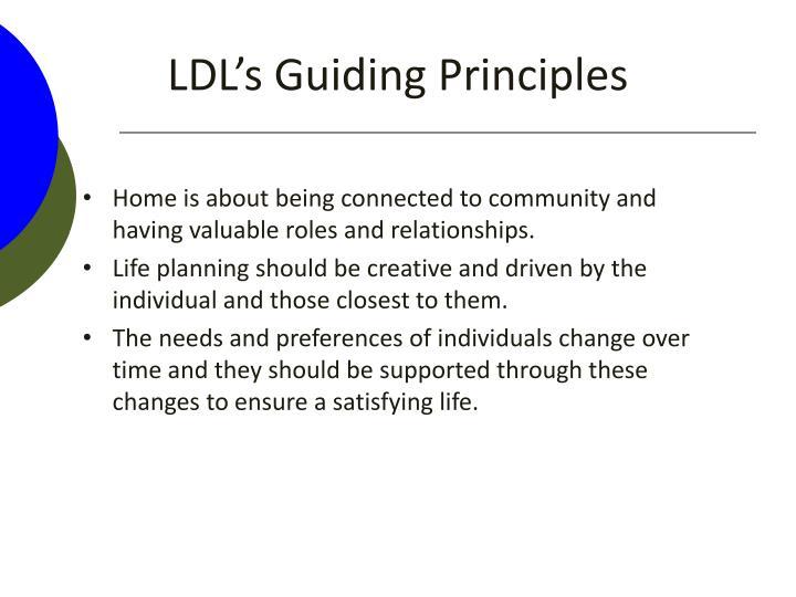 LDL's Guiding Principles