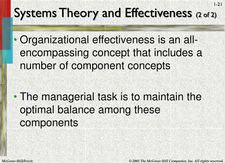 Systems Theory and Effectiveness