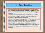 11 peer teaching