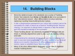 14 building blocks