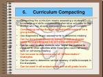 6 curriculum compacting