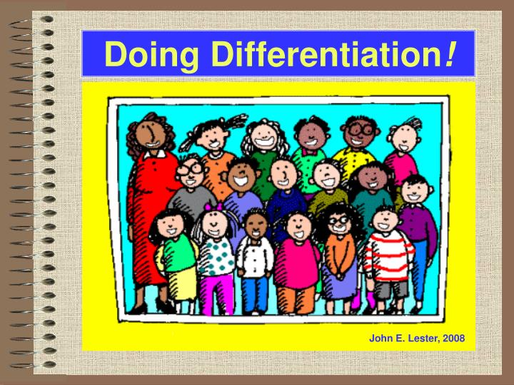 doing differentiation n.