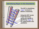 identifying rigor in the standards