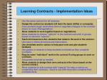 learning contracts implementation ideas