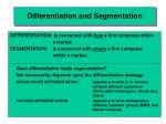 differentiation and segmentation