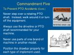 to prevent pto accidents cont
