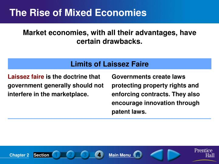 Market economies, with all their advantages, have certain drawbacks.