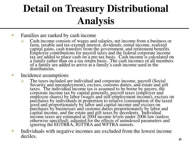 Detail on Treasury Distributional Analysis