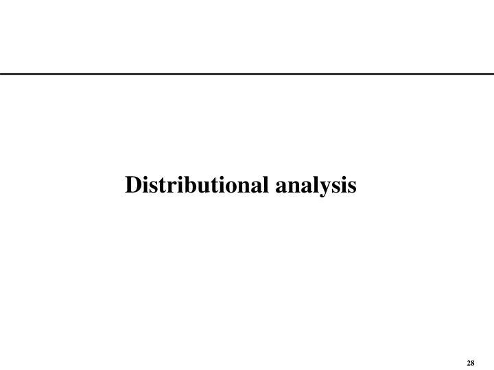 Distributional analysis
