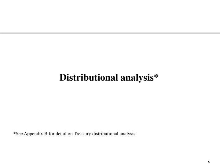 Distributional analysis*