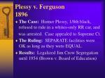 plessy v ferguson 18962