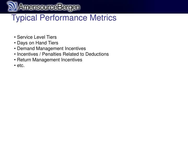 Typical Performance Metrics