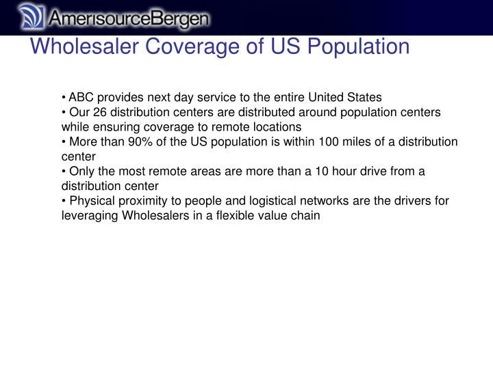 Wholesaler Coverage of US Population