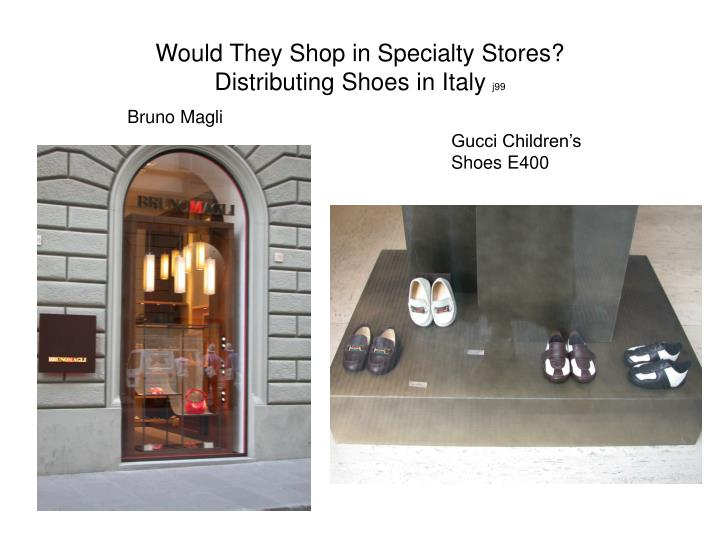 Would They Shop in Specialty Stores?