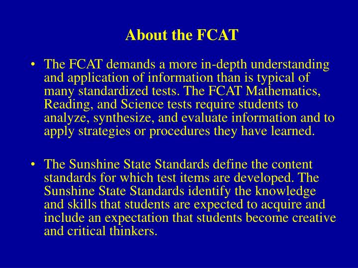 About the fcat