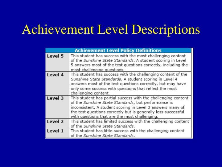 Achievement Level Descriptions