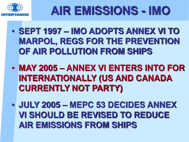 AIR EMISSIONS - IMO