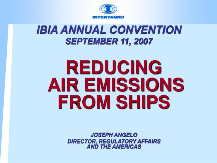 Ibia annual convention september 11 2007