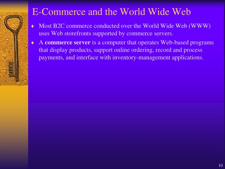 E-Commerce and the World Wide Web
