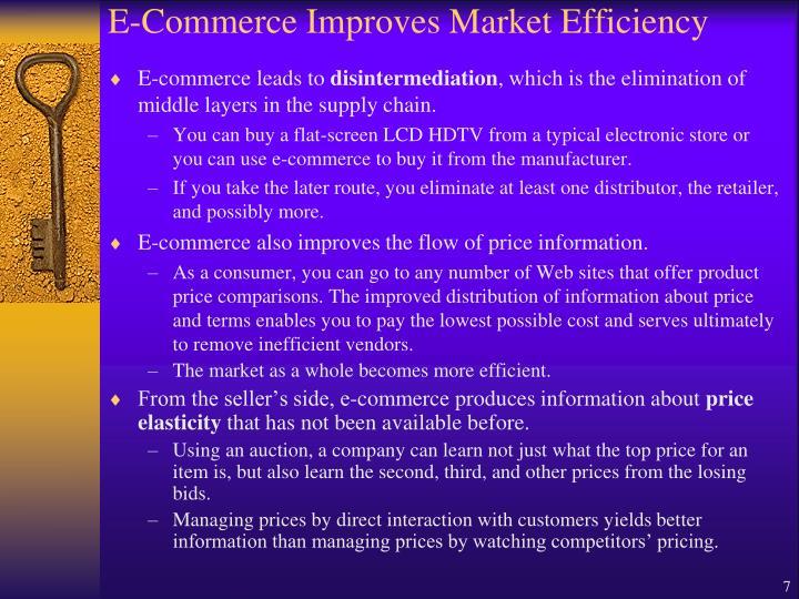E-Commerce Improves Market Efficiency